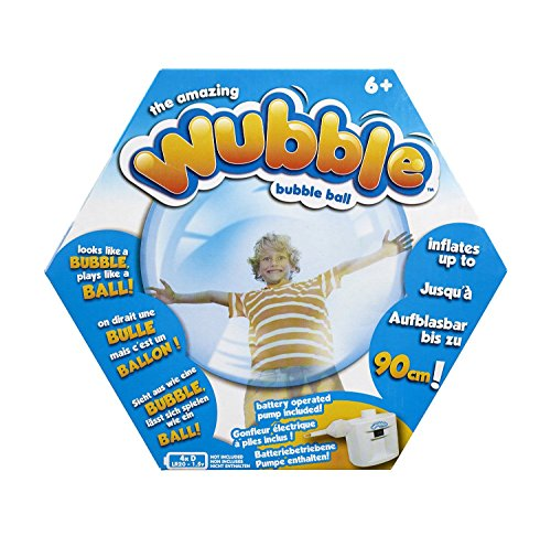 Great Features Of The Amazing WUBBLE Bubble Ball - Looks like a bubble, plays like a ball! Blue