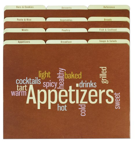 Meadowsweet-Kitchens-Recipe-Organizer-File-Folder-Set-Wordle
