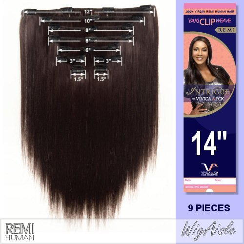 INTCLIPW14 (Vivica A. Fox - Weave and Bulk) - Remy Human Hair Clip-in Extension from Fox Designs, Inc.