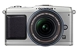 Olympus PEN E-P1 12 MP Micro Four Thirds Interchangeable Lens Digital Camera with 14-42mm f/3.5-5.6 Zuiko Digital Zoom Lens (Silver Body/Black Lens)