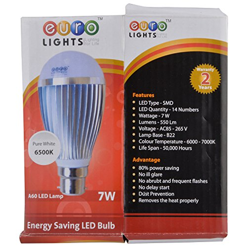 Euro-Lights-7W-White-LED-Bulbs-(Pack-Of-3)