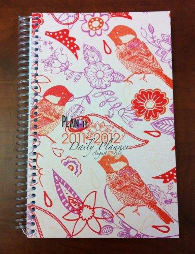 2011-2012 Daily Fashion Day Planner Organizer Agenda (August 2011 Through July 2012)- Paisley Bird