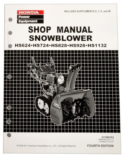 Honda HS624 HS724 HS828 HS928 HS1132 Snow blower Service Repair Shop Manual