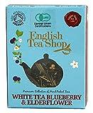 Amazon.co.jpイングリッシュティーショップ ホワイトティー・ブルーベリー&エルダーフラワー ティーバッグ1袋入り WHITE TEA BLUEBERRY & ELDERFLOWER 1袋入りミニペーパーボックス
