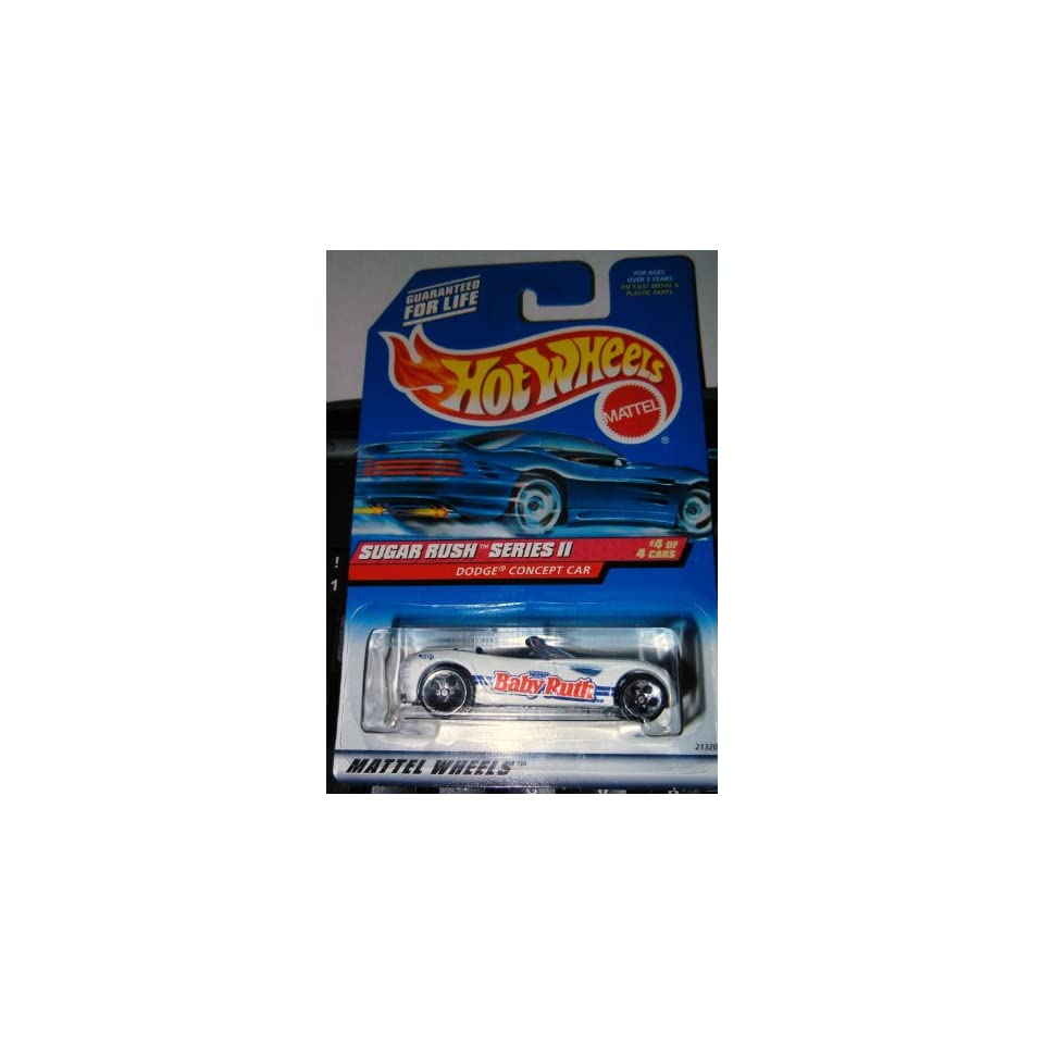 Sugar Rush 2 Series #4 Dodge Concept Car Metal Base WIth DCC And Concept On Base #972 Condition Mattel Hot Wheels 164 Scale