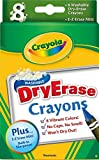 2 PACK Crayola Large Dry Erase Crayons, 8 count (98-5200)