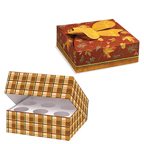 Cupcake Box | Pie Box | Set of One Cupcake Carrier with Inserts and Pie Carrier Disposable Container To Go (Pie Transporter compare prices)
