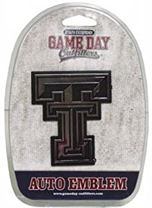 Buy NCAA Texas Tech Red Raiders Car Emblem by Game Day Outfitters