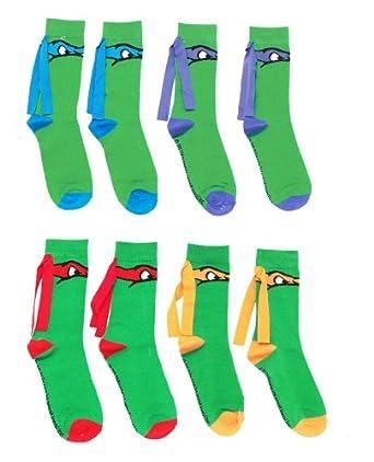 Teenage Mutant Ninja Turtles Crew Socks (Set of 4 pairs)