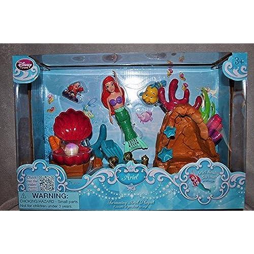 Disney Store 디즈니 스토어 Little Mermaid 리틀 머메이드 Swimming Ariel 개미 L Play Set Figures Swim Toy Girls Gift [병행수입품]-