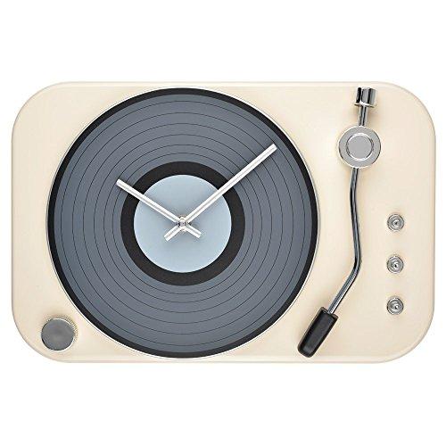 Horloge tourne disque vinyle ivoire m tal la chaise longue for Chaise yamaha