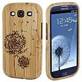 Semoss Custodia in Bambu Fatta a Mano Bumper Cover Rigida con Dente di Leone per Samsung Galaxy S3 i9300 i9305...
