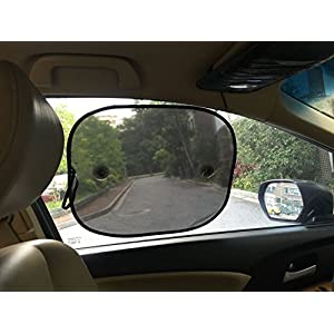 Car Sun Shades for Babies (2 pack ) - Best Car Shades Blocks over 97% of Harmful UV Rays- Protection for Your Kids, Pets - Best Universal Auto Accessories for Side Window