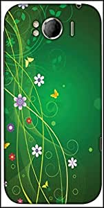 Snoogg Minimal Pretty Design Designer Protective Back Case Cover For HTC Sensation Xl