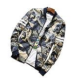 SemiAugust(セミオーガスト)メンズ 秋ファッション 男性用 流行 復古する 迷彩柄 ジャケット メンズコート アウトウェアジャケット カラーはブルー サイズはL