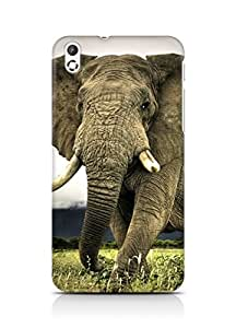 Amez designer printed 3d premium high quality back case cover for HTC Desire 816 (African Elephant)