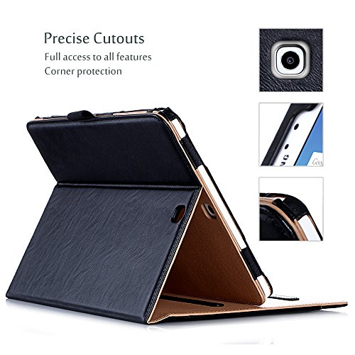 ProCase-Samsung-Galaxy-Tab-S2-97-Case-Leather-Stand-Folio-Case-Cover-for-2015-Galaxy-Tab-S2-Tablet-97-inch-SM-T810-with-Multiple-Viewing-angles-auto-SleepWake-Document-Card-Pocket-Brown