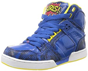 Osiris NYC 83 Skate Shoe (Little Kid/Big Kid),Blue/Red/Yellow,12 M US Little Kid