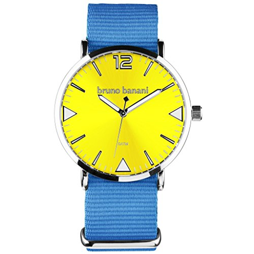Bruno Banani BR30066 Cool Color Watch Unisex Analogue Air Band Metal 50 m blue/yellow
