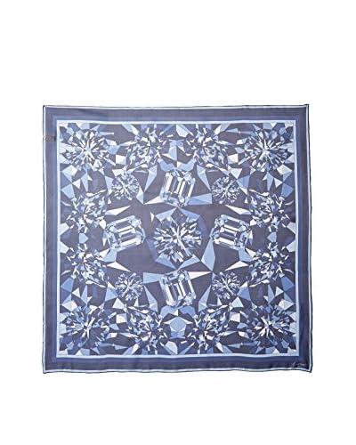 Cartier Women's Patterned Silk Scarf, Navy