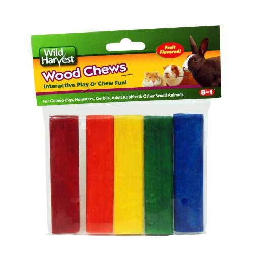 Wild Harvest P-84127 Colored Wood Chews for Small Animals, Fruit Flavored, 5-Count (Wood Chews compare prices)