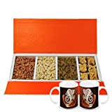 Gifts For Diwali - Delightful Collection Of Almonds,cashew, Raisin And Baklava Gift Box With Diwali Special Coffee...