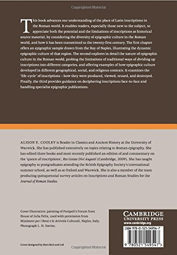 The Cambridge Manual of Latin Epigraphy Paperback