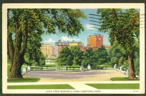 Bushnell Park View Hartford Ct Postcard 1936