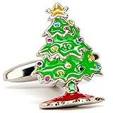 Familienurlaub Weihnachtsbaum-Manschettenknöpfe