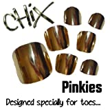 Chix Nails Nail Wraps PINKIES Gold Mirror JUST FOR TOES Toes Vinyl Foils Minx Trendy Style SALON