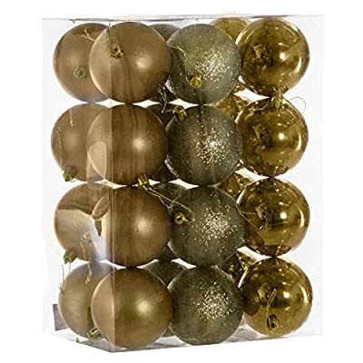 24 Pack Of Christmas Baubles/ Decorations in 8 different metallic colours