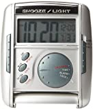 Seiko Silver Get Up & Glow Travel Alarm Clock