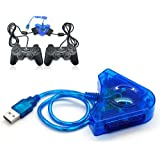 Dual Ps2 Playstation 2 Game Controller Joystick To USB Converter For Pc Laptop