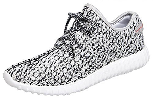 Serene Mens Fashion Comfortable Breathable Light Weight Skidproof Lace-Up Slip-On Walking Sneakers Athletic Sports Running Shoes (9D(M)US, Grey) (Insulated Walking Shoes compare prices)