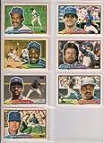 Chicago Cubs 1988 Topps (Big) Baseball Team Set (Ryne Sandberg) (Andre Dawson) (Shawon Dunston) (Leon Durham) (Jim Sundberg) (Rick Sutcliffe) (Jerry Mumphrey)