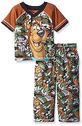 Scooby Doo Little Boys Scooby 2pc Pant Set, Brown, 2T