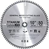 Concord Blades WCB1000T80-P  TCT General Purpose 10-Inch 80 Teeth Hard and Soft Wood Saw Blade with 5/8-Inch Arbor