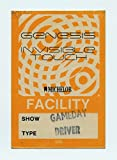 Genesis 1986 Invisible Touch Tour Backstage Pass