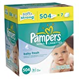 Pampers Softcare Baby Fresh Wipes 7x box,2 pack 504 each