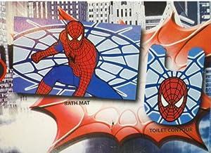Marvel Spiderman 2- Piece Nylon Bathroom Rug Set