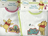 Disney Winnie the Pooh Embroidered Terry Bibs 2 Piece Set (SMILE and GOT HUNNY)