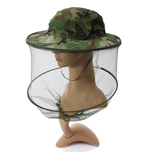 (1711-i) CAMOUFLAGE MOSQUITO HAT MESH WOMEN MEN