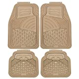 OxGord 4pc Sea Shell Floor Mats for Ford F750 , Beige