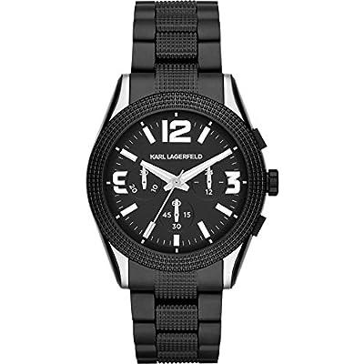 Karl Lagerfeld KL2801 Chronograph Textured Bracelet Men's Watch