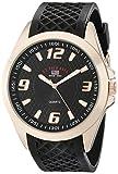 U.S. Polo Assn. Sport Men's US9122 Black Textured Strap Analog Watch