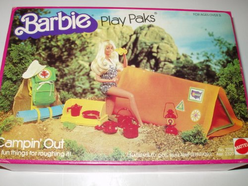 1980 Vintage Barbie Play Paks: Campin' Out (Camping Out)