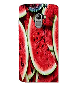 PrintDhaba WaterMelon D-3437 Back Case Cover for LENOVO VIBE X3 LITE (Multi-Coloured)