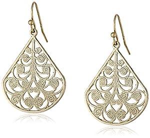 1928 Jewelry Brass Vine Earrings