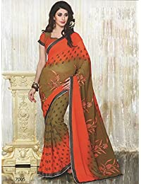 Aarti Saree Fancy Wear Embroidery Saree With Un-Stitched Blouse Piece