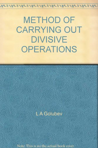 METHOD OF CARRYING OUT DIVISIVE OPERATIONS PDF